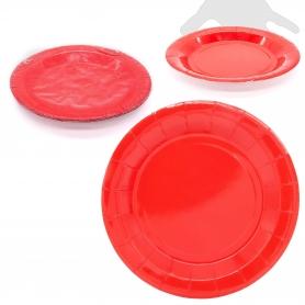 Confezione di grandi piatti colorati