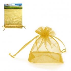 Confezione di sacchetti di organza d'oro 17x23