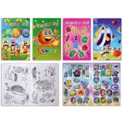 Libro da colorare con adesivi