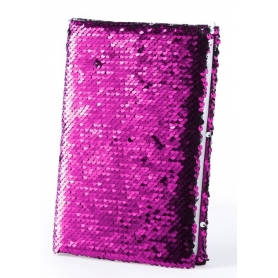 Notebook con paillettes rosa