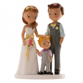 Figure di fidanzati con bambino