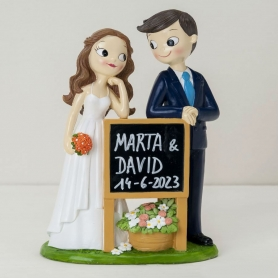Figura fidanzati torta