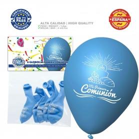 Confezione Palloncini Comunione Blu