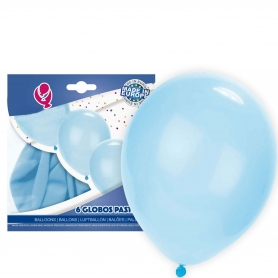 Confezione palloncini azzurri