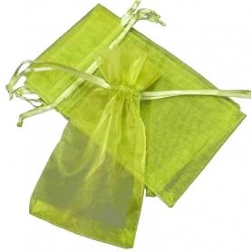 Borsa in organza verde scuro 9x15