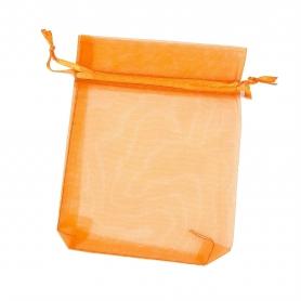 10 x 13 sacchetti di organza arancione scuro