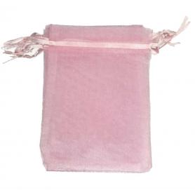 Borsa in organza rosa chiaro 7x10