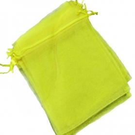 10 x 13 sacchetti di organza gialli