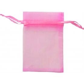 Sacchetto di organza di gomma da masticare rosa 13 x 17