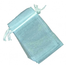 Sacchetto in organza azzurro 7x10