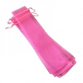 Borsa in organza per fan rosa bubble gum
