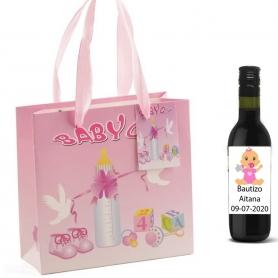 Bottiglie di vino da dare ai battesimi