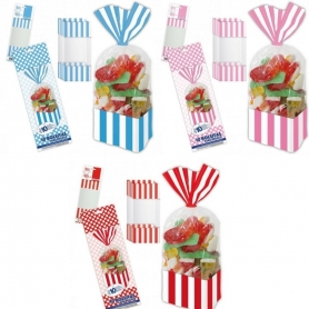 Confezione di sacchetti di caramelle quadrati
