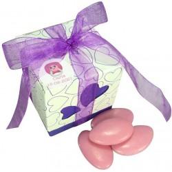 Scatole con dolci decorati per battesimo di una ragazza