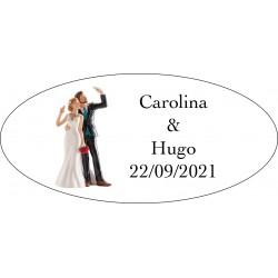 Etichette per matrimoni Will & Grace