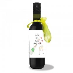 Bottiglia di vino personalizzata per matrimoni