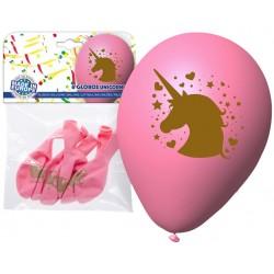 Confezione palloncini Unicorno rosa