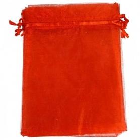 Borsa in organza rossa 9 x 15