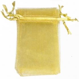 10 x 13 sacchetti di organza d'oro