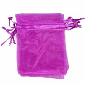 10 x 13 sacchetti di organza viola