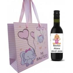 Vino rosso battezzando gli ospiti con borsa