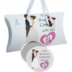 Regalo di nozze, specchio e scatola personalizzata