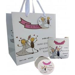 Set regalo di nozze, borsa, specchio e borsa personalizzata