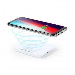Caricabatterie wireless bianco con supporto per smartphone