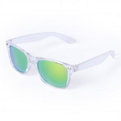 Occhiali da sole con montatura a specchio trasparente