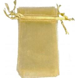 Bolsa de organza dorado