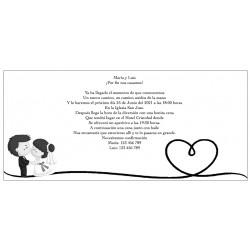 Inviti di nozze personalizzati in bianco e nero