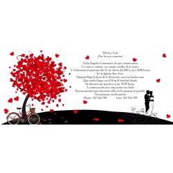 Inviti di nozze personalizzati per albero della vita
