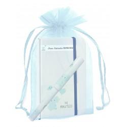 Quaderno per battesimo personalizzato con penna coordinata