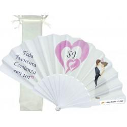 Ventilatore personalizzato per matrimoni con borsa in...
