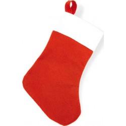 Calza di Natale rossa con nastro adesivo