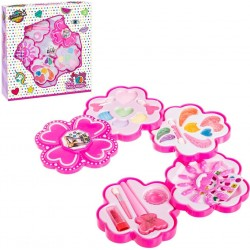 Pink Flower Makeup Set 4 livelli per ragazze
