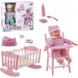 Bonnie Doll Culla 2 in 1, seggiolone e suoni