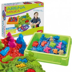 Magic Sand to Play Tray and Moulds