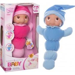 Simpatica bambola a forma di verme con luce