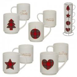 Tazze impilabili decorative di Natale