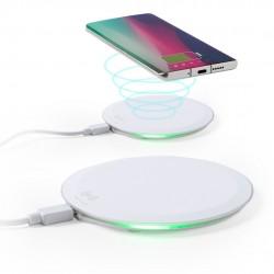 Caricabatterie wireless bianco a ricarica rapida
