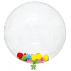 Confezione palloncino trasparente da 45 cm