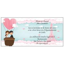 Invito a nozze Torre Eiffel