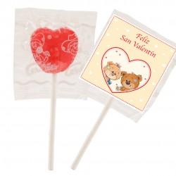 Lecca-lecca di San Valentino a forma di cuore