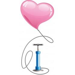 Riempimento palloncino con pompa ad aria e manipolazione