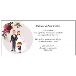 Inviti di nozze originali con figlio
