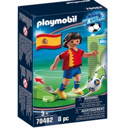 Playmobil Spain Soccer Player with Goal
