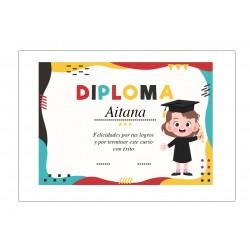 Diploma di laurea personalizzato per ragazze