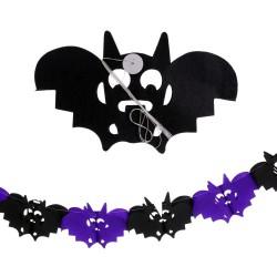 Ghirlanda di carta pipistrello 400 cm