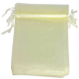 Borsa in organza beige 7x10